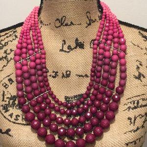 Ashley Stewart 5 strand Pink and BurgundyNecklace